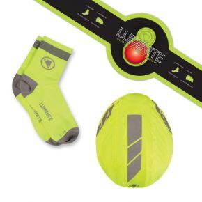 Endura Luminite Gift Pack - Kypäränsuojus valolla ja sukat