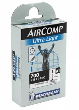 """Michelin Aircomp Ultra Light 28"""" (18/23-622) Presta 60mm sisärengas"""